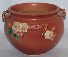 Roseville Pottery Apple Blossom Pink Jardiniere 300-4