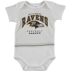 Baltimore Ravens Infant Team Player Bodysuit - White - $8.99