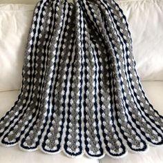 crochet mile a minute shell blanket