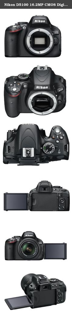 Nikon D5100 16.2MP CMOS Digital SLR Camera with 3-Inch Vari-Angle LCD Monitor (Body Only). 3-inch, 921,000-dot Super-Density horizontal type Vari-Angle LCD Monitor. In-camera Special Effects Mode and HDR (High Dynamic Range). Stunning Full 1080p HD Movies with Full Time Autofocus. High Resolution 16.2 MP DX-format CMOS sensor. Includes rechargeable Li-ion battery, quick charger, rubber eyecup, USB cable, AV cable, camera strap, eyepiece cap, and shoe cover.