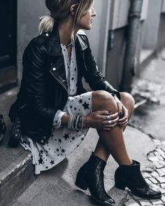 I totally love this outfit!!. Stars are my thing. I love stars. I have the jacket and shoes, I just need this dress!!