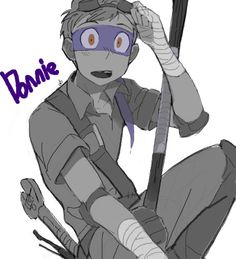 donnie the only human tmnt i like