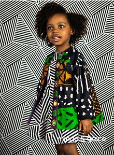 Mingo Grace Kids Sewing Patterns Are Awesome African Children's Fashion # mingo grace kids schnittmuster sind fantastische afrikanische kindermode # les modèles de couture mingo grace kids sont une mode enfantine africaine impressionnante Ankara Styles For Kids, African Dresses For Kids, African Babies, African Children, Girls Dresses, Sewing Patterns For Kids, Sewing For Kids, African Print Fashion, African Attire