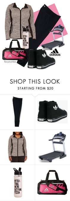 """After This We're Getting Pizza"" by florymcintee ❤ liked on Polyvore featuring Lands' End, adidas, Made For Life, ProForm, ban.do and plus size clothing"