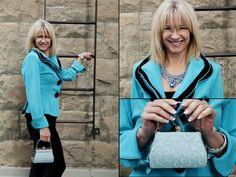 Jacket, blouse, purse, earrings, necklace, and bracelets from Twigs.  http;//www.twigs.ca Twigs Lookbook