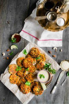 Gluten-Free Zucchini Sweet Potatoes and Chicken Fritters With Honey Mustard Yogurt Dip | The Gastronomic BONG