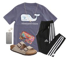 """""""#50"""" by lily141 on Polyvore featuring Vineyard Vines, adidas, Birkenstock, Native Union, Honora, Zoë Chicco and Vera Bradley"""
