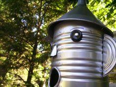 Tin man bird house