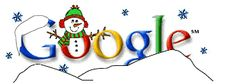 Happy Holidays from Google 25-12-1999 Global, Snowman, National Holiday, Winter, Snow, Season's Greetings, Earmuff, Hat, Snowflake, Scarf