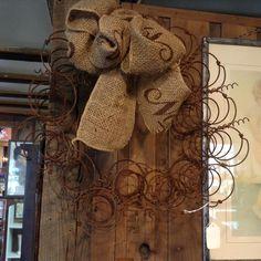 Burlap Wreath, Shops, Wreaths, Antiques, Home Decor, Antiquities, Tents, Antique, Decoration Home