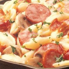 POLISH SAUSAGE & PASTA, but I am going to try it with brats