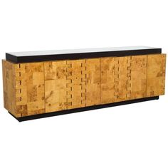 Paul Evans City Scape Sideboard in Burlwood | From a unique collection of antique and modern credenzas at https://www.1stdibs.com/furniture/storage-case-pieces/credenzas/