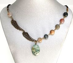 Natural Gemstone Amazonite Jasper Necklace