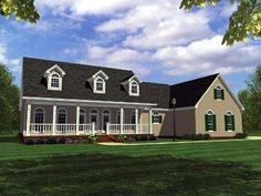 House Plan 59095   Country   Ranch   Southern   Traditional    Plan with 2505 Sq. Ft., 3 Bedrooms, 3 Bathrooms, 2 Car Ga