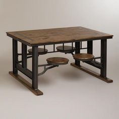 This is so cute! Galvin Cafeteria Table at World Market