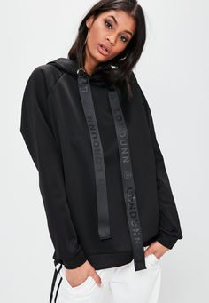 Londunn + Missguided Black Scuba Hoodie - Missguided