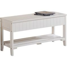 Equal parts low-key accent piece and versatile storage solution, this understated and essential storage bench makes a chic addition to your well-curated space. Featuring a paneled wood design with an openwork lower shelf, this understated bench brings a bit of classic appeal to your look, while its lifting seat offers up ample space to organize and unclutter your environment. Set it in the entryway under a row of wall hooks to give guests a seat while they kick off their shoes, then use the…