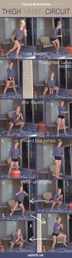 Pinterest Workout Review | Skinny Moms Thigh-Thinning Circuit Find more like this at gympins.com
