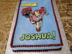 Another Iron Man cake idea for Justin