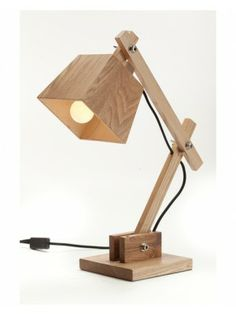 Contemperary Wooden Bedside Table Reading Lamps for Bedroom