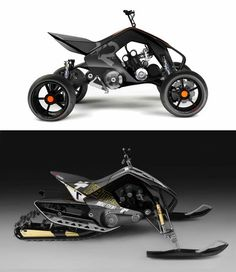 KTM X2 HYBRID  All year hybrid powersport vehicle. ATV-Snowmobile. Base for my graduation thesis for Lahti University of Applied Sciences Institute of Design. It was selected for the most innovative thesis in Lahti University of Applied Sciences 2007.