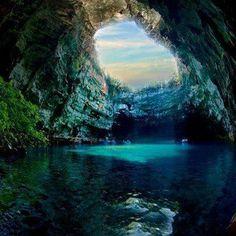 Melissani cave ~ Greece