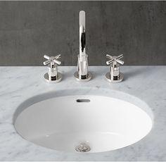 $1669 Gramercy Metal Powder Washstand Sink | RH