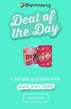 Car Bin Dustbin Pink