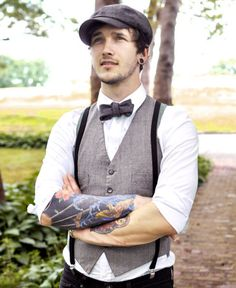 men who wear hats, bow-ties and vests…