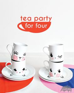 DIY tea party set for kids - Espresso Cups DIY - Kids Crafts and Kids Gifts | Small for Big