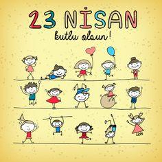 Tüm çocukların sağlık ve mutlulukla yaşayacağı bir dünya dileğiyle...  23 Nisan Ulusal Egemenlik ve Çocuk Bayramı Kutlu Olsun!