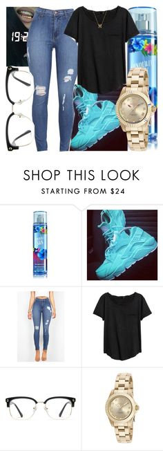 """""""Untitled #485"""" by foreverkaylah ❤ liked on Polyvore featuring GlassesUSA, Invicta and Gorjana"""