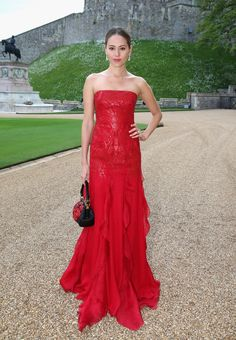 Pin for Later: Models and Film Stars Step Out in Style For Prince William Jessica Michibata in Ralph Lauren