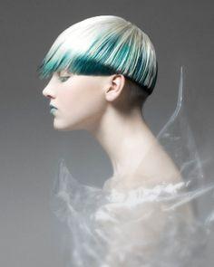 futuristic girl, hairstyle, future girl, Jacqueline Sanchez, futuristic hairstyle, future fashion, futuristic look, BABAK, strange hair by FuturisticNews