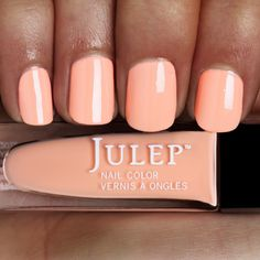 Julep Powder Peach Crème~ in August I was all like dang I wish fall would come so I can bust out my dark polish. Now fall is here and I want spring so I can wear this peach polish.