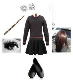 """""""Sophie's Hogwarts Uniform"""" by duckiebeak ❤ liked on Polyvore featuring Ash and D for Diamond"""