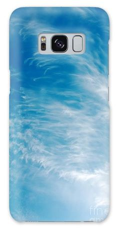 Backgrounds Galaxy S8 Case featuring the photograph Strong Winds Forming Cirrus Clouds With A Deep Blue Sky. by Jan Brons. Strong winds forming cirrus clouds with a deep blue sky.     Cirrus clouds are mostly a sign of changing weather, often more stormier weather. As a sailor I notice that a day later the winds are much stronger.   Take a look at the cirrus wikipedia page for more information on the interesting subject of meteorology.