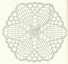 Patterns and motifs: Crocheted motif no.Crochet pattern for scarves, blouses, blankets . Crochet Square Patterns, Crochet Motifs, Crochet Diagram, Crochet Chart, Crochet Squares, Thread Crochet, Love Crochet, Crochet Doilies, Crochet Flowers