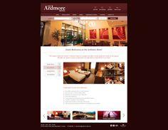 Ardmore Hotel | Website Layout on Behance