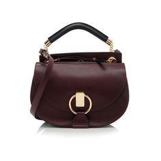 Rental Chloe Calfskin Goldie Small Shoulder Bag ($150) ❤ liked on Polyvore featuring bags, handbags, shoulder bags, red, brown shoulder bag, red handbags, crossbody purse, chloe handbags and over the shoulder purse