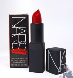 NARS Guy Bourdin Holiday Collection Limited Edition Cinematic Lipstick in Future Red - Review, Swatches, Pictures