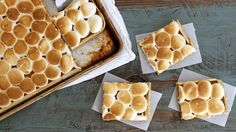 This slab version of classic pumpkin pie gets a tasty upgrade with the addition of browned butter and toasted marshmallows.