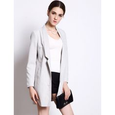 White Color Lapel Long Sleeve Women's Sweater Cardigan