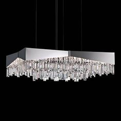 "Schonbek Riviera 21"" Wide Stainless Steel Pendant - #3P935   Lamps Plus"