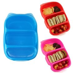 This simple three-compartment container has become my new favorite lunch-from-home item. The Goodbyn Bynto ($9) is totally affordable; easy to clean; BPA-, lead-, and phthalate-free; dishwasher-safe; and so fun to fill up.