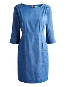 ABERLY Womens Casual Denim Dress