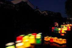 伏見新高瀬川の灯篭流し