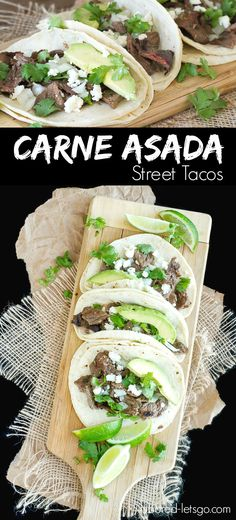 Asada Street Tacos Steak marinated in juice, herbs and spices, then chargrilled to delicious perfection all wrapped up in fresh corn tortillas. These carne asada street tacos are fantastic!These These may refer to: Mexican Dishes, Mexican Food Recipes, Beef Recipes, Dinner Recipes, Cooking Recipes, Healthy Recipes, Ethnic Recipes, Vegetarian Mexican, Vegetarian Recipes