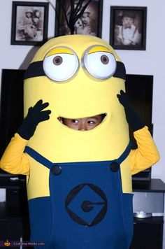 Rudy: My son Dustin was wearing his minion costume. I made this costume for this coming halloween. The body is made out camping mat and the head dome shape was a...