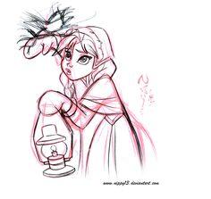 Elsa Frozen Disney Sketches   Disney's Frozen - Anna Sketch 04 by Nippy13